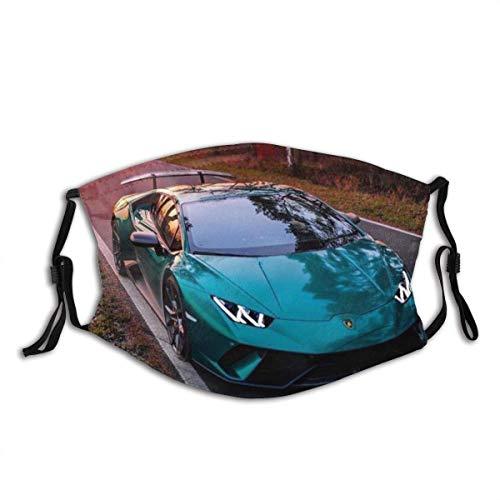Bufanda de Boca Bufanda de Cara L-a-m-b-o-r-g-h-i-n-i Sports Car Series (3) Pasamontañas Unisex Lavables y Reutilizables para la Boca con 2 filtros