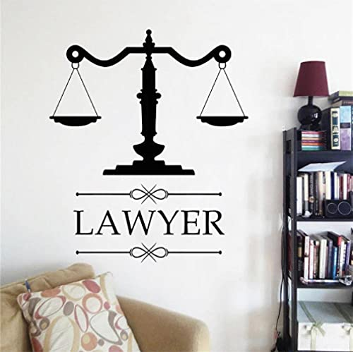 Papel tapiz Decoración de bufete de abogados Logotipo Abogado Pared Vinilo Calcomanía Personalización Etiqueta Nombre de la empresa Escala de justicia Decoración de ventana 35X42CM