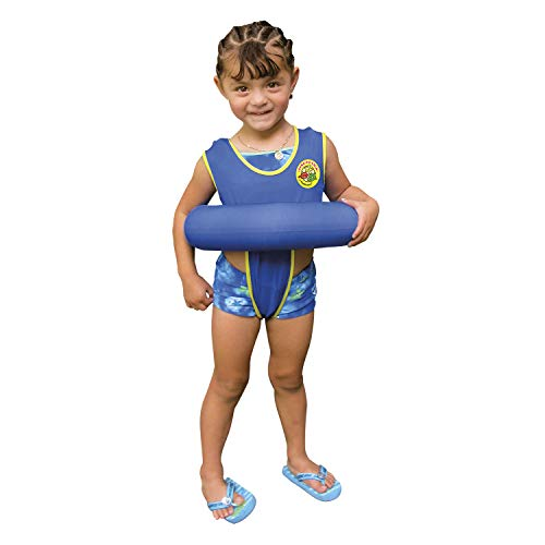 Poolmaster Learn-to-Swim Swimming Pool Tube Float Trainer, Blue, 3-6 Years