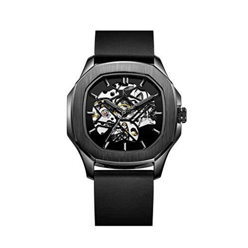 KLEIN Watches Otus The Blck Automatikuhr Skelettuhr Silikonarmband 40mm 3ATM