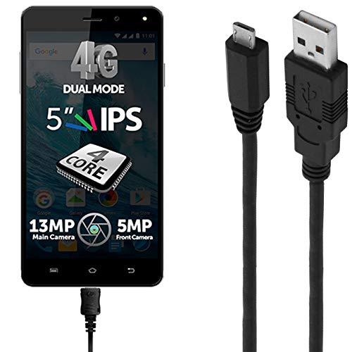 ASSMANN Ladekabel/Datenkabel kompatibel für Allview E4 Lite - schwarz - 1m
