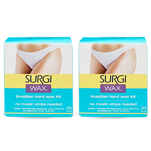 Surgi Brazilian Microwave Hard Wax Kit 4 Oz 2 Pack