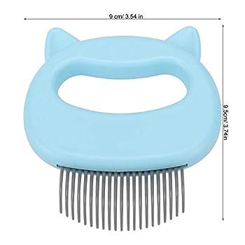 Peigne de Coquille de Chien de Chat d'animal familier, Brosse de Nettoyage de Perte d'épilation de toilettage pour Le Petit Chat de Chien Moyen(Bleu)