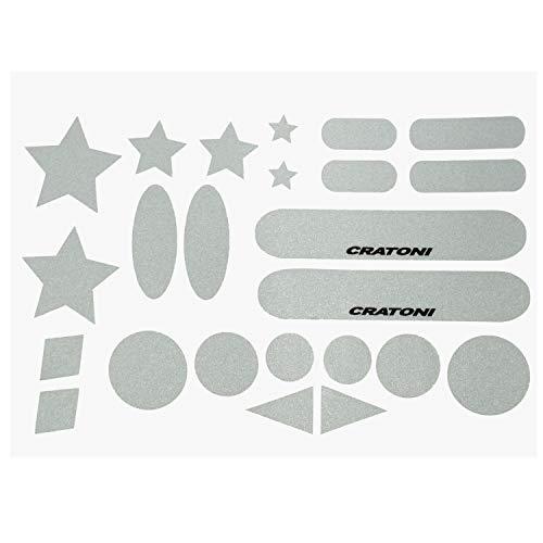 Cratoni Sticker Card Reflector | zusätzliche Sicherheit durch Mehr Sichtbarkeit | für Fahrradhelme, Reithelme, Skihelme