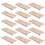 15er Set StickandShine Stufenmatte in Creme eckig für Treppenstufen, Treppenstufenmatte zum aufkleben