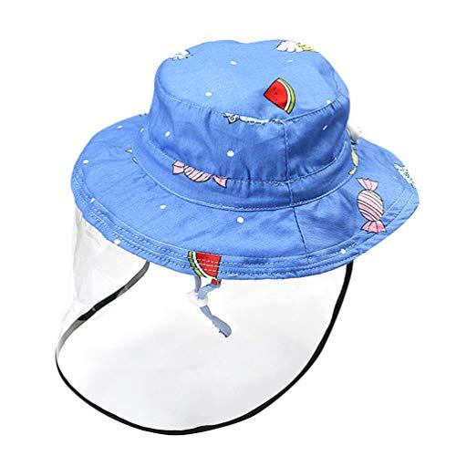 PreTYZOOM - Sombrero infantil con visera de protección facial, protección solar UV, protección contra salpicaduras