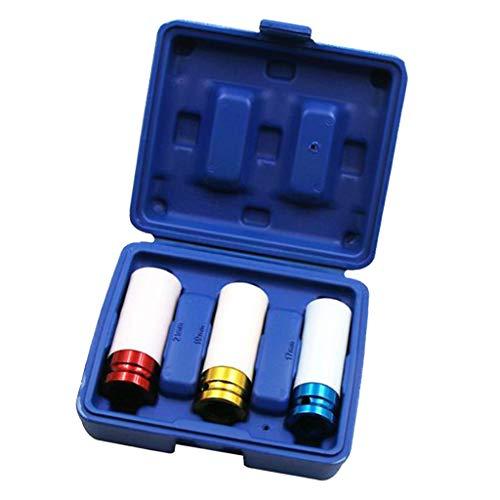 """Amuzocity 3PCS 1/2""""Drive Dünnwand Steckschlüsselsatz Pneumatische Reifenabdeckung, Autowerkstatt Kit"""