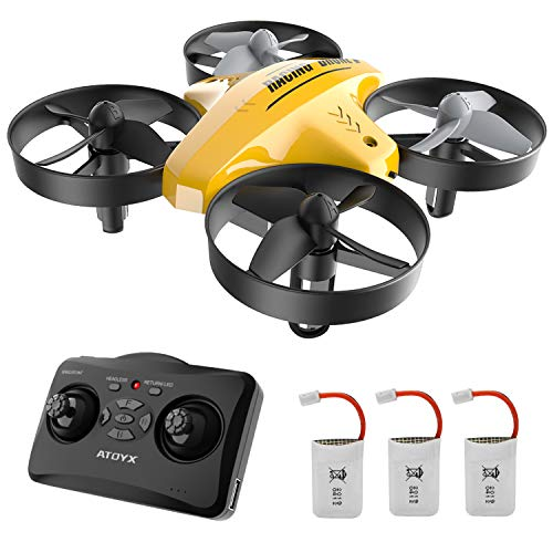 Mini Drone for Kids and Beginners: Remote Control Quadcopter Drone, Helicopter Plane with Altitude Hold Function, 3D Flips, Headless Mode, 3 Batteries, Great Gift Toy for Boys & Girls…