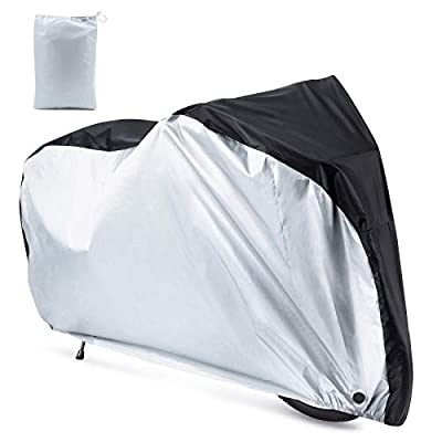 Roctee Waterproof XL Bicycle Cover, Outside Bikes Storage Covers Rain Sun UV Dust Wind Proof Mountain Bicycle Covers Road Electric Bike Cover Hybrid Bike Cover