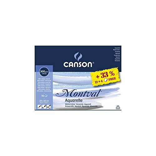Canson Montval Blocco carta acquerello 24cm x 32cm