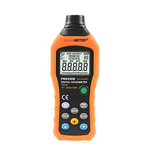 LHQ-HQ Instrumento preciso PM6208B sin contacto tacómetro digital 50~99999RPM máxima velocidad Medidor Probador de Rotación