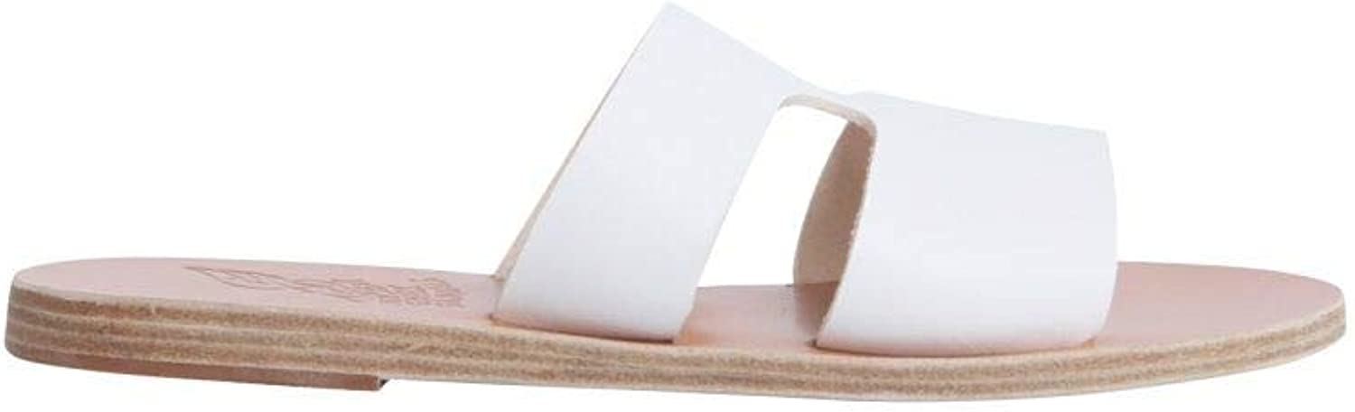 ANCIENT GREEK SANDALS Women's APTEROSVACHETTAWHITE White Leather Sandals