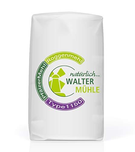Roggenmehl unbehandelt | Type 1150 | Walter Mühle | 1kg (10 Pack) | Premium Bäckerqualität | Natur Pur