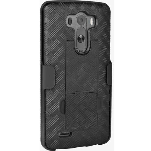 New OEM Verizon Shell Holster Belt Clip Case Combo for LG G3 VS985