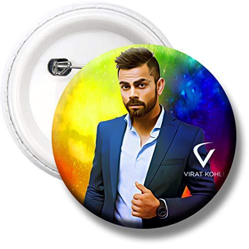360Edutech, IPL 2021 Virat Kohli RCB Fan Indian Cricket Game Button Badge for Boys Girls Men & Women, Pin on T Shirts Bags Dress Kits Cap Jersey Jacket Hoodie, Gifts, Merchandise, RCBVK4