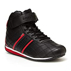 NEXT LEVEL RACING: Professional race car drivers know that Goodyear Racing Shoes are the key to winning. Our racer shoes have layers of cushioning for comfort and a maximum grip sole. DESIGN DETAILS: Our Clutch sneaker is made with a PU leather upper...