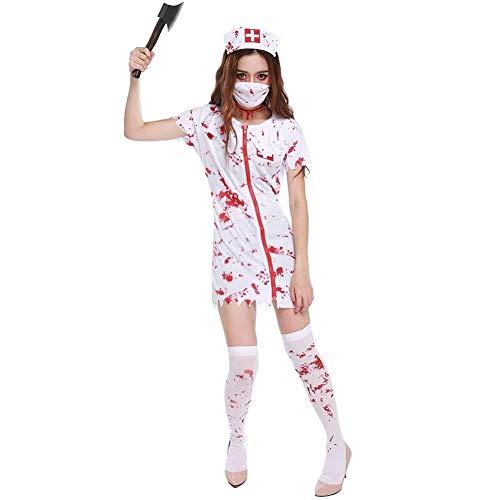 Horror Zombie Infermiera Costume Donna Halloween Zombie Costume M 40//42