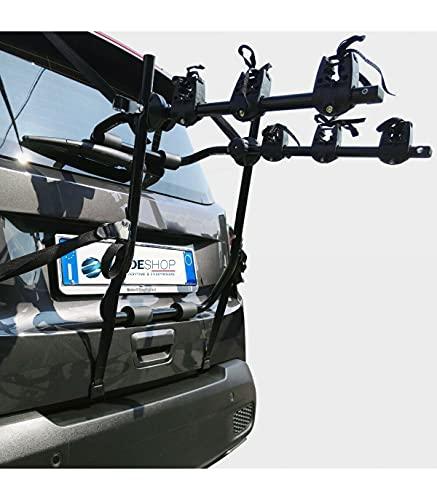 TradeShop - PORTABICI Universale Posteriore da Auto per Trasporto di 3 Bici O Mountain Bike - 14340
