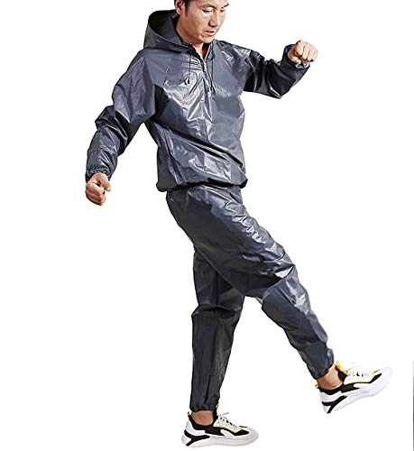 XINSHUN Weight Loss Sauna Suit Sweat More EVA Suits Hoodie Gym Fitness Workout for Women and Men(XL)