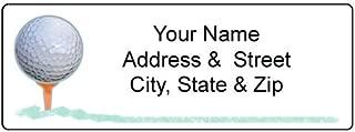 Golf Address Label - Customized Return Address Label - 90 Labels