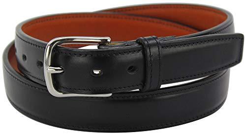 """Men's Italian Leather Steel Core Gun Belt 1.25"""" Wide - Made in USA, Black - 40'"""