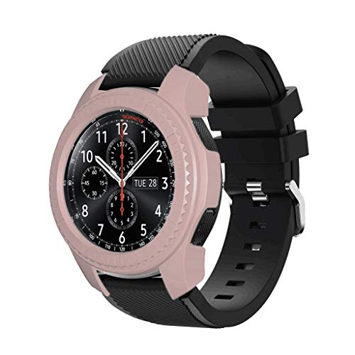 JKRED Watch Protective Case, Ultra Thin PC Hard Shockproof Anti-Scratch Protective Bumper Case Cover for Samsung Galaxy Watch 46mm for Samsung Gear s2/Gear s3 (Pink)