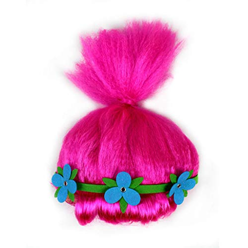 FORH Cosplay Perücken Christmas Halloween Festliche Party Haar Schöne Party Disco Cosplay Afro Maskerade Lustige Haar Perücke (Hot Pink)