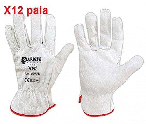 guanti da lavoro pelle GUANTO DA LAVORO IN PELLE TG 9-12 PAIA
