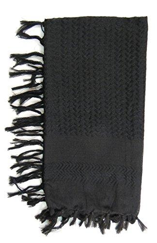 Premium Shemagh Head Neck Scarf – Black/Black