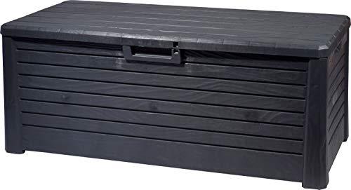 dobar Outdoor Gartentruhe mit 550l Stauraum, verschließbare Auflagenbox, Größe XXL, Kunststoff, 148 x 72 x 60 cm, 58605e, Anthrazit
