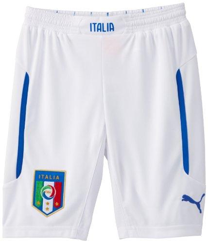 PUMA Kinder Hose FIGC Italia Kids Shorts Replica Italien, White/Away, 128