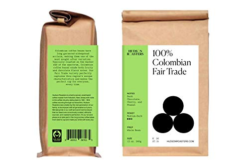 Colombian Whole Bean Coffee - Fair Trade, from Hudson Roasters