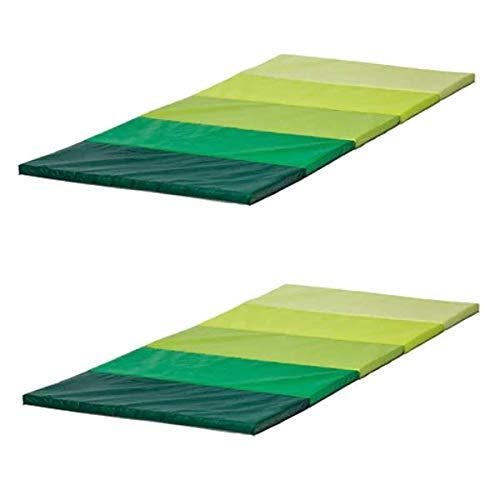 2 XIKEA PLUFSIG - Folding Gymnastikmatte, grün - 78x185 cm