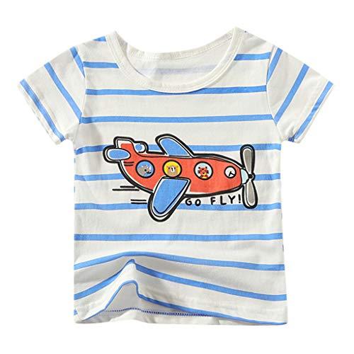 Vrouit T-shirt voor kinderen, katoen, strepen, patroon, jongens, meisjes, korte mouwen, bovenkant t-shirt kleding