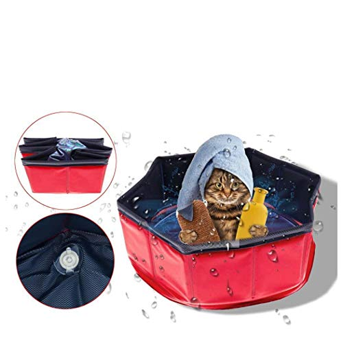 Sioneit Tragbare dauerhafte Hund Katze Bad Pool Outdoor Indoor Pet Supplies Bad Gesundheit