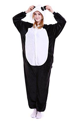 LazLake Jumpsuit Tier Fasching Pyjama Kostüm Onesie Overall Schlafanzug Erwachsene Unisex Kigurumi Panda L