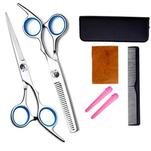6 inch professionele kapper schaar, roestvrij staal, zwart licht kapsalon schaar, kapper, kapper,1 set