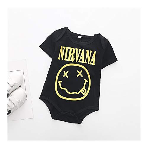 LiuQ Bébé Barboteuse Mode d'été Bébés garçons monopièce Petit Cauchemar de Maman Bodysuit Imprimer bébé Gentleman Jumpsuit Vêtements Outfit (Color : B, Kid Size : 24M)