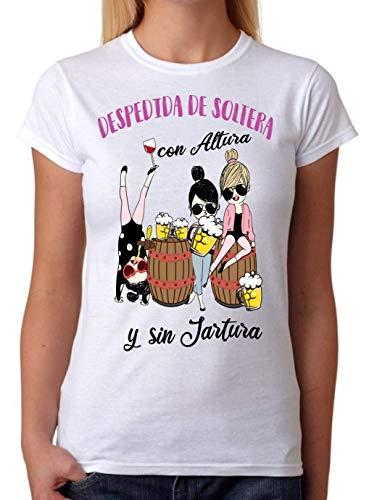 FUNNY CUP Camiseta Despedida de Soltera con Altura y sin jartura. Divertida para Amigas de la Novia