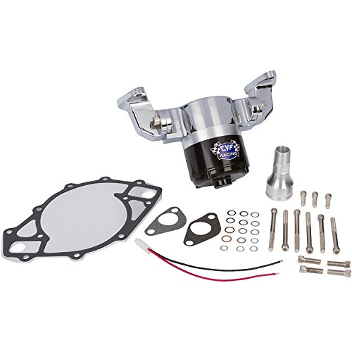Electric Water Pump Compatible with Ford Big Block - 35 GPM, Chrome Aluminum, 429-460