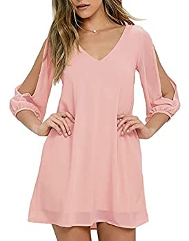 Best blush pink chiffon dresses Reviews