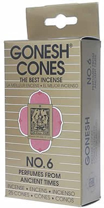 シルエット作成する複製ガーネッシュ(GONESH) ナンバー インセンス コーン No.6 25個入(お香)