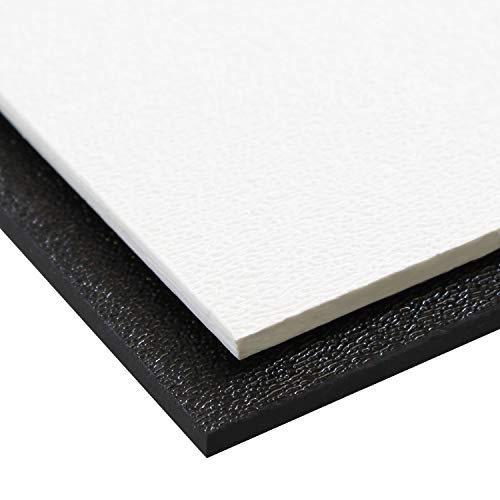 Source One Premium 1/8 Inches Black or White Textured ABS Acrylic Sheet (24 x 24, Black)