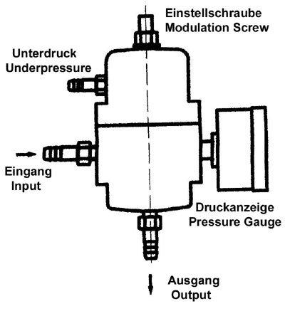 Régulateur de pression de carburant réglable 0–7 bar, chromé, utilisation universelle