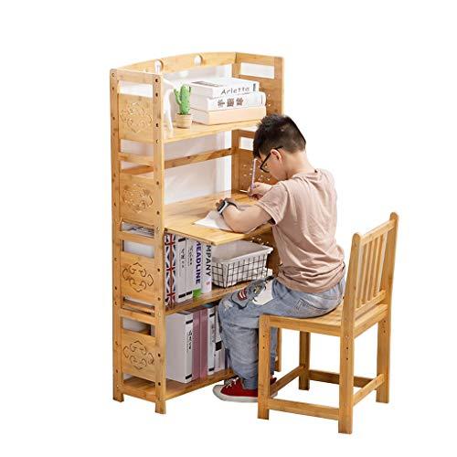 Boekenkasten Kasten, Rekken & Planken Children's studie boekenplank met studie tafel planken staande graveren boekenplanken eenvoudige demontage opslag rack 128 * 51 * 26cm Wood Color