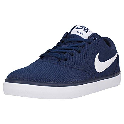 Nike SB Check Solar CNVS, Chaussures de Fitness Homme, Bleu (Midnight Navy/White 400), 40.5 EU