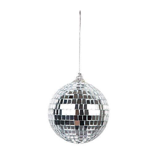Boland 00700 - Discokugeln im Set, 6 Stück, Durchmesser 8 cm, silber glänzend, Mosaik, Dekoration, Party-Location, Disco, Karneval, Mottoparty