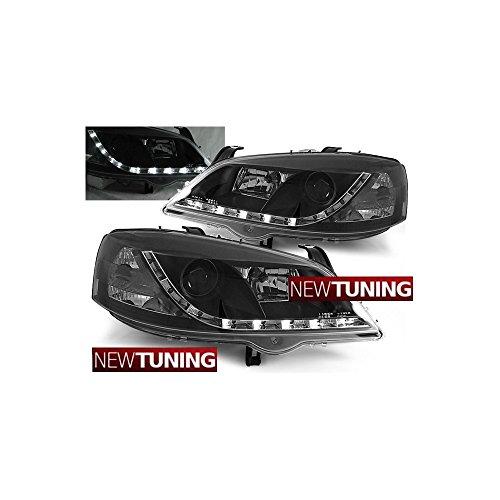 Faros delanteros para Opel Astra G 09.97-02.04, color negro