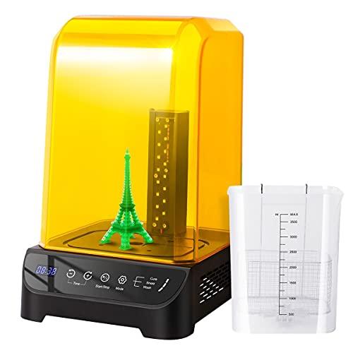 GIANTARM Geeetech Wash And Cure Macchina, 2 in 1 Washing e UV Curing Box per 405nm Modello Stampato 3D, per LCD/DLP/SLA Stampante 3D in Resina, con Schermo Anti-ultravioletto