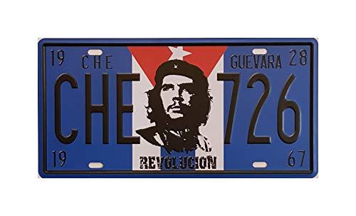 MR Placa de matrícula Vintage Motivo Che Guevara, Revolucion 30 X 15 cm